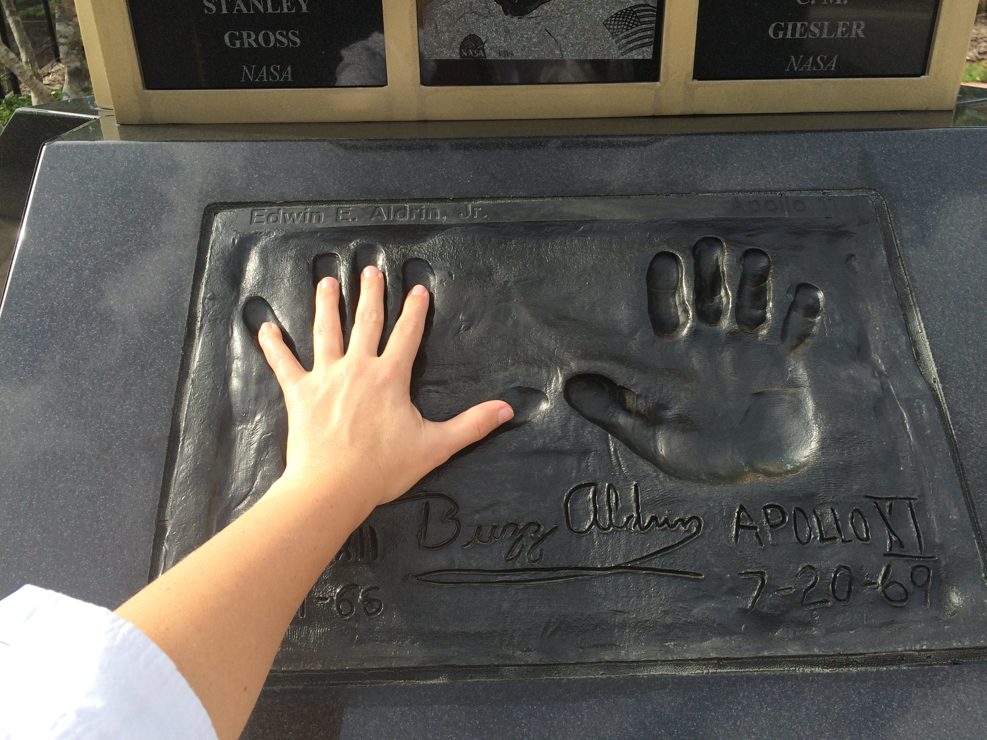 Space View Park Handprint