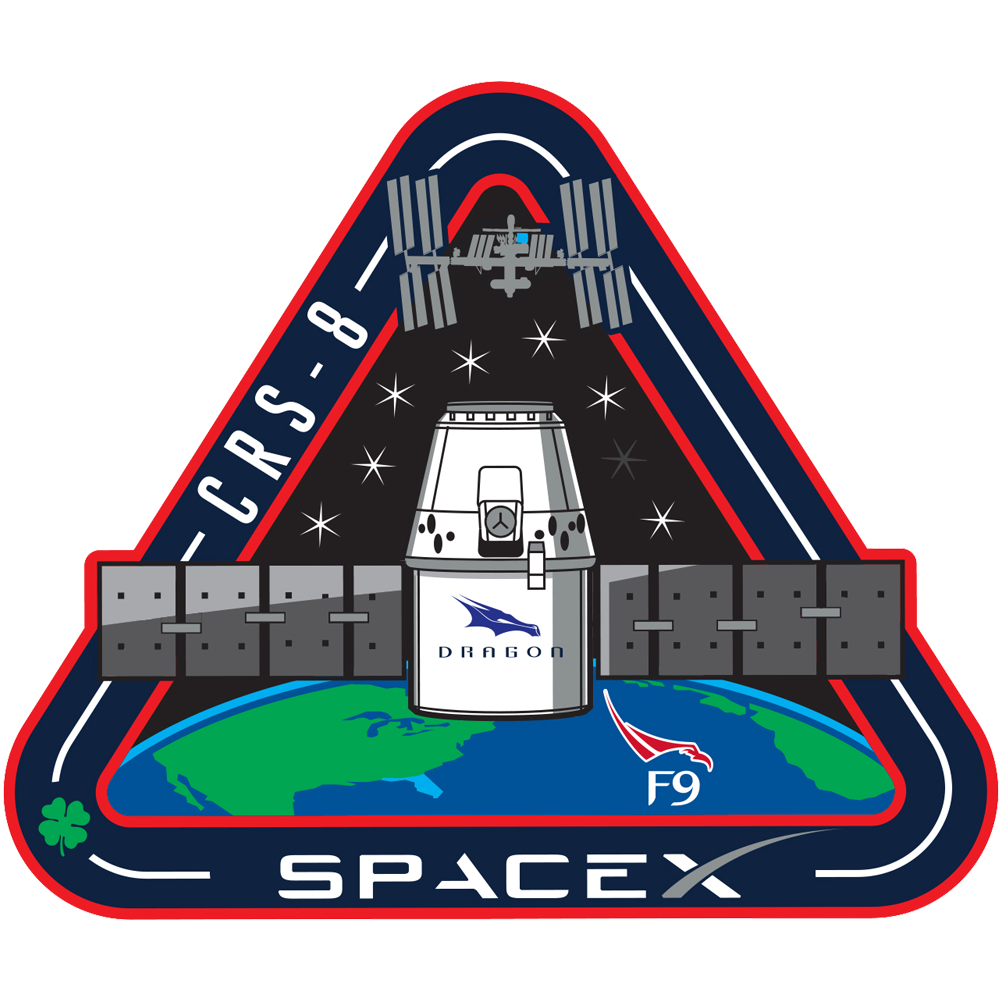 SpaceX CRS-8 logo