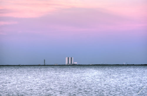 Vehicle Assembly Building Sunset
