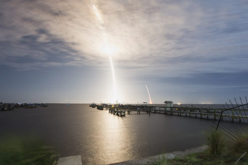 SpaceX Falcon 9 CRS-9, July 18th 2016 Launch & Landing viewed from Space View Park