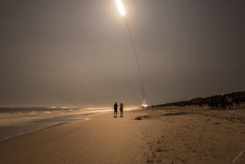 ULA Atlas V GOES-R, November 19th 2016 Launch viewed from Playalinda Beach, at Cape Canaveral National Seashore