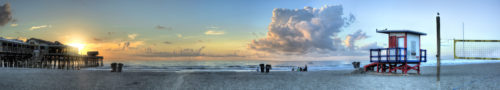 Cocoa Beach Sunrise Panorama