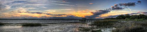 Twin Oaks Sunset Panorama