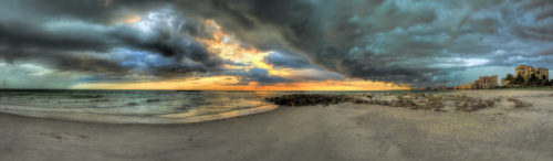 Marco Island Storm Panorama