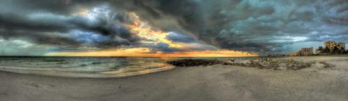 Marco Island Storm Panorama