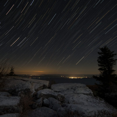Star Trails at Bear Rocks, WV – Nikon D7100